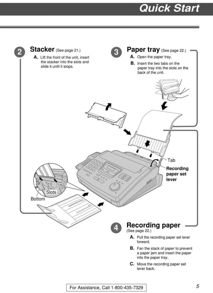 Old fax machine instruction manual - Panasonic KX-FP 250 (1)