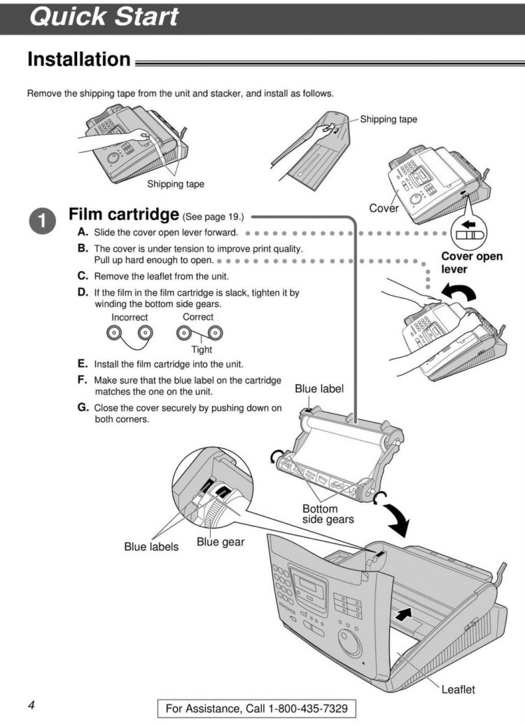 Old fax machine instruction manual - Panasonic KX-FP 250 (2)