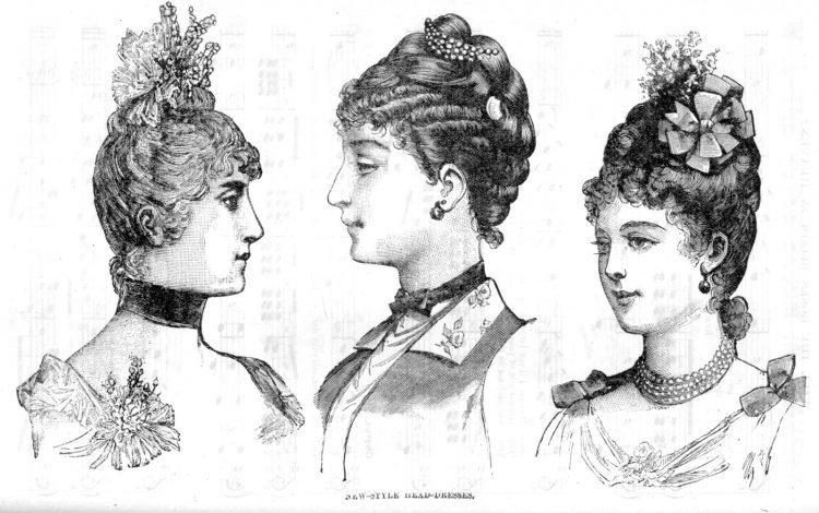 Old hairstyles for women from 1888