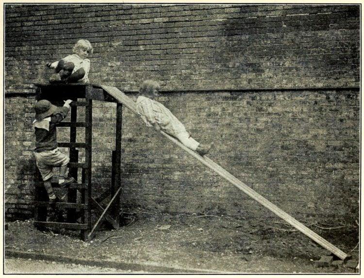 Old homemade slide from 1918