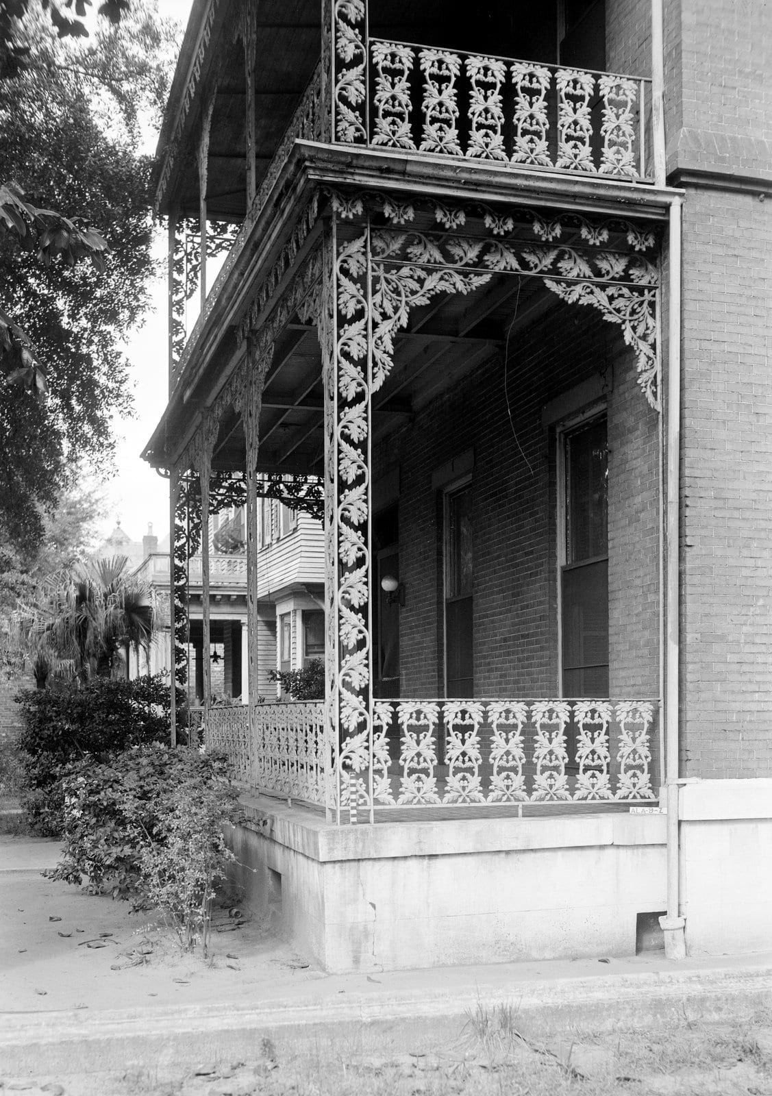 Old ironwork at Captain Owen Finnigan House - Government Street, Mobile, Alabama