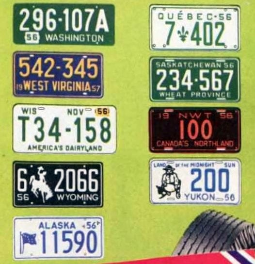 Old license plates from 1956 (1)