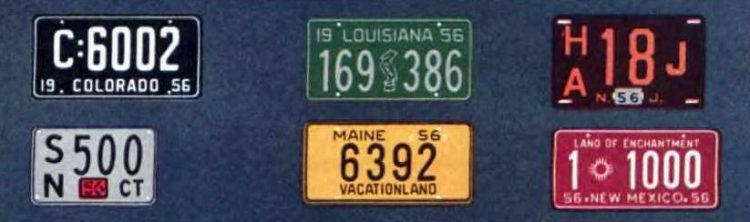 Old license plates from 1956 (3)