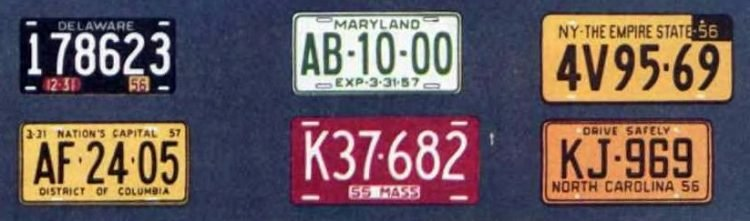 Old license plates from 1956 (5)