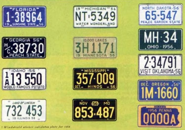Old license plates from 1956 (6)
