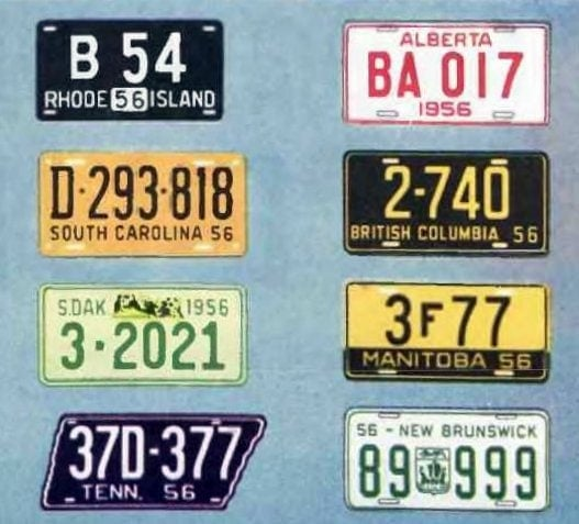 Old license plates from 1956 (7)