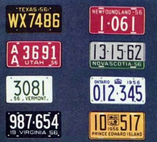 Old license plates from 1956 (8)