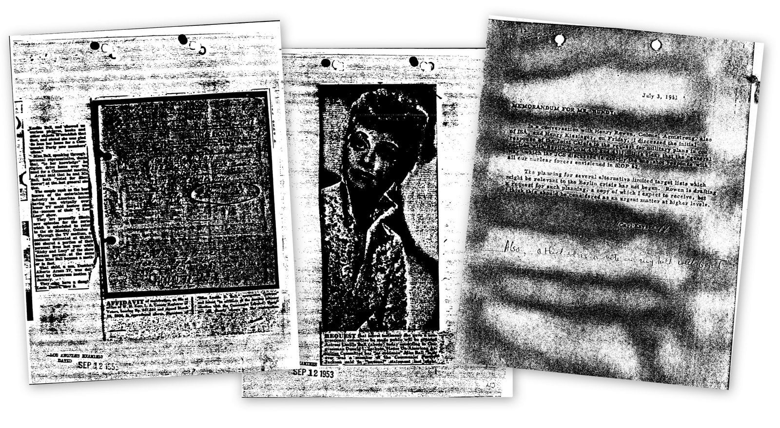 Old photocopied pages