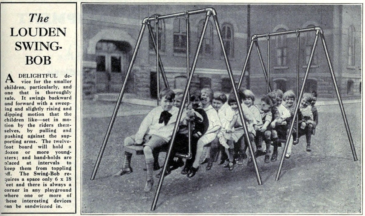 Old playground equipment from the 20s - The Louden Swing Bob