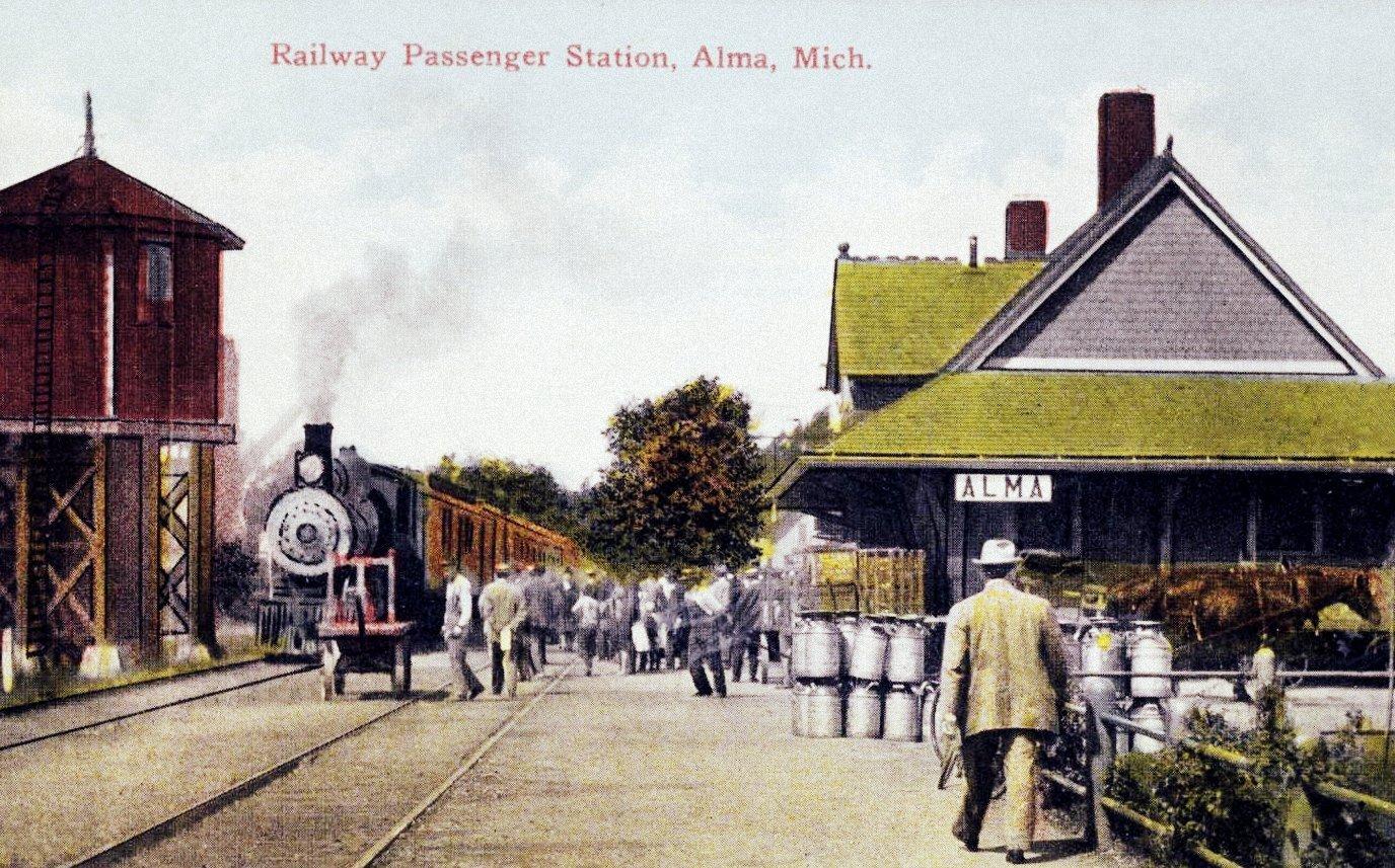 Old railway passenger station - Alma Michigan