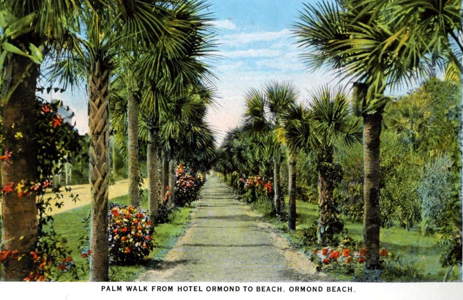 Old scene of Ormond Beach and Hotel Ormond