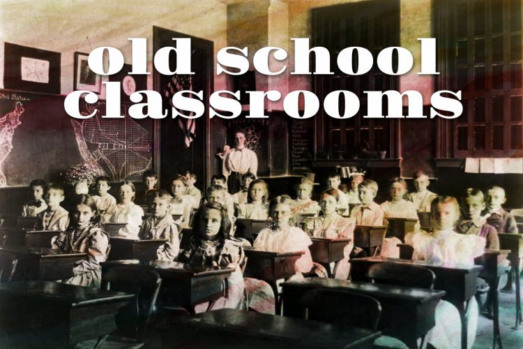 Old school classrooms from the turn of the century