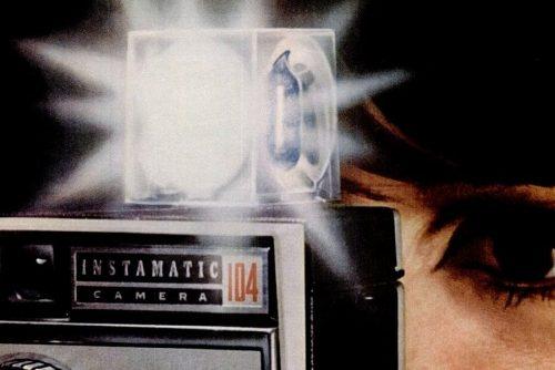 Old-school tech flash cubes for vintage cameras
