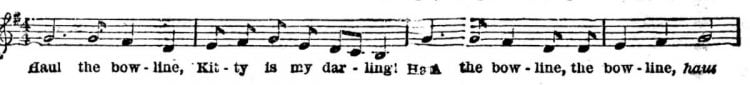 Old sea shanties remembered in 1895 (2)
