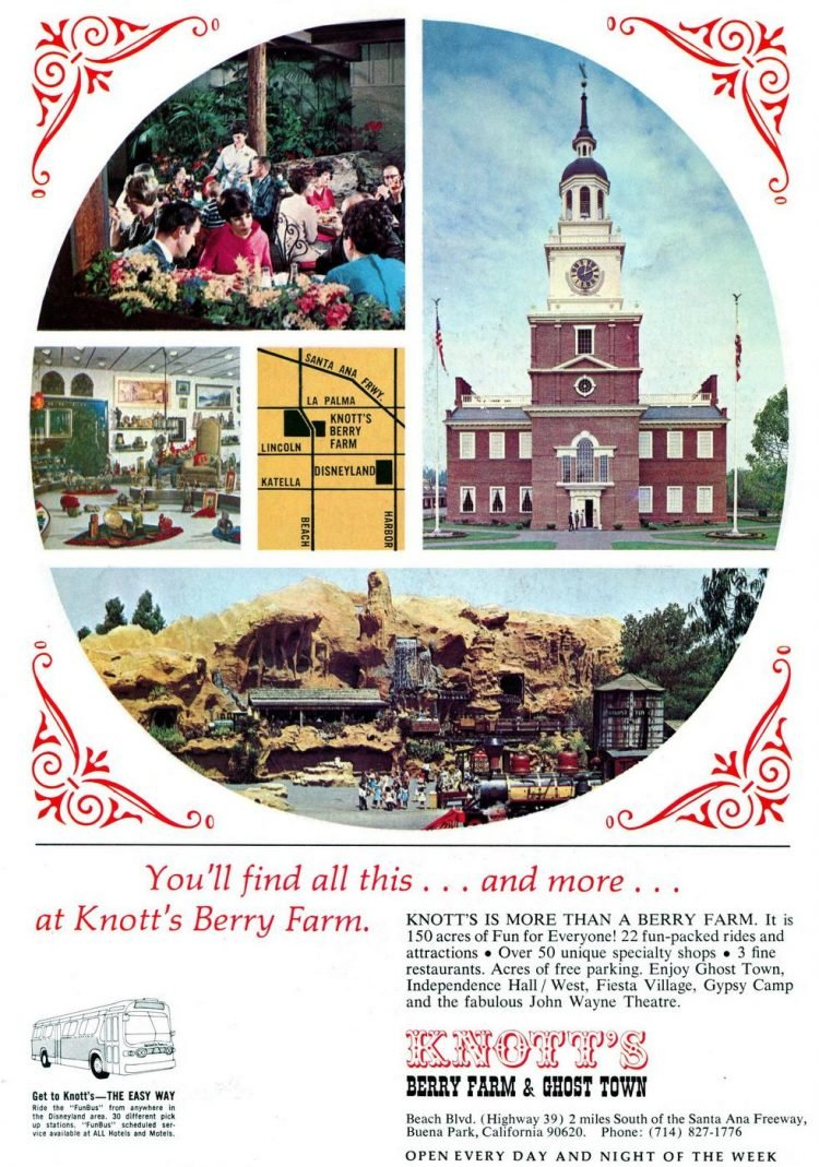 Old seventies Knott's Berry Farm 1972