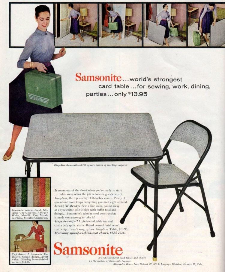 Vintage card table