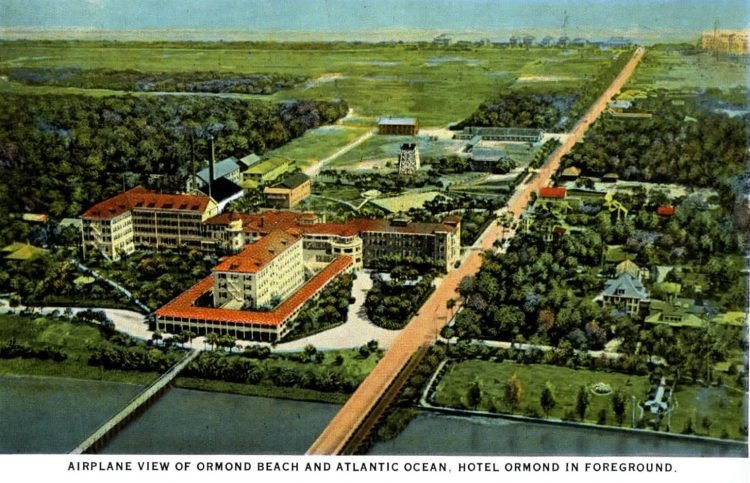 Old view of Ormond Beach Florida from c1917