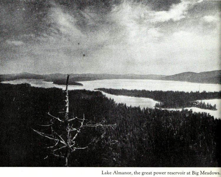 Old view of early Lake Almanor