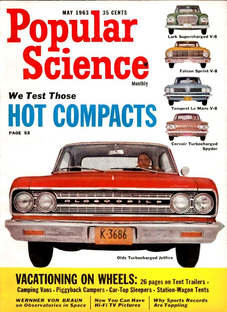 Oldmobile Jetfire on cover of Popular Science May 1963