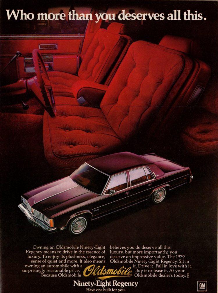 Olds 98 Regency for '79 - Classic Oldsmobile luxury sedans