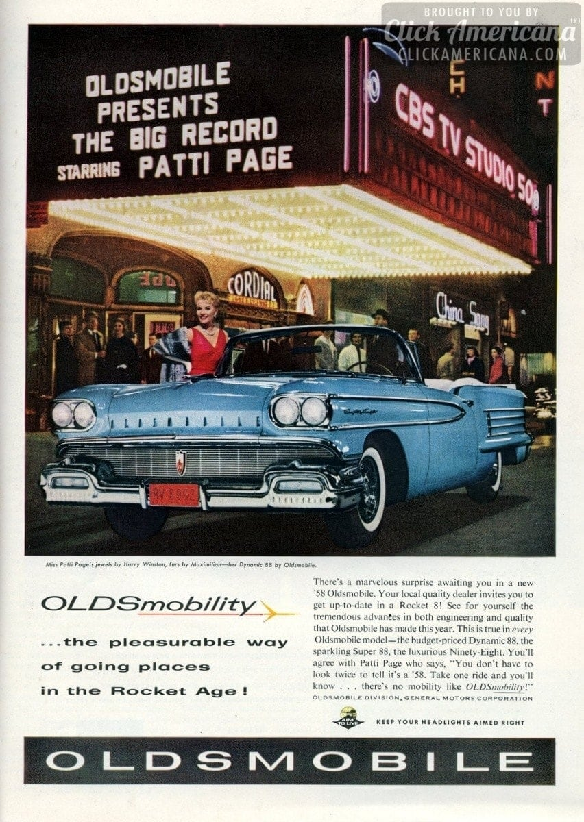 Oldsmobility: Going places in the Rocket Age! (1958) - Click Americana
