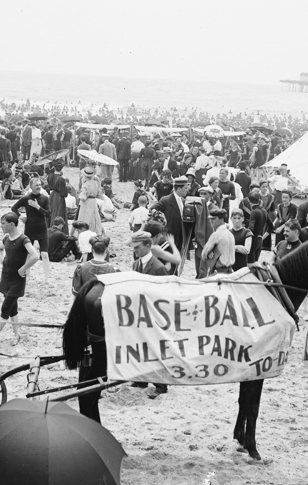 On the beach at Atlantic City (around 1904) (2)