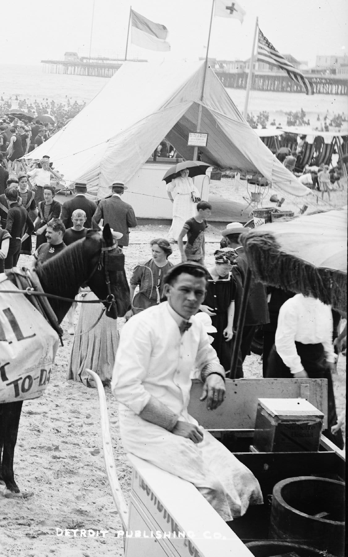 On the beach at Atlantic City (around 1904) (3)