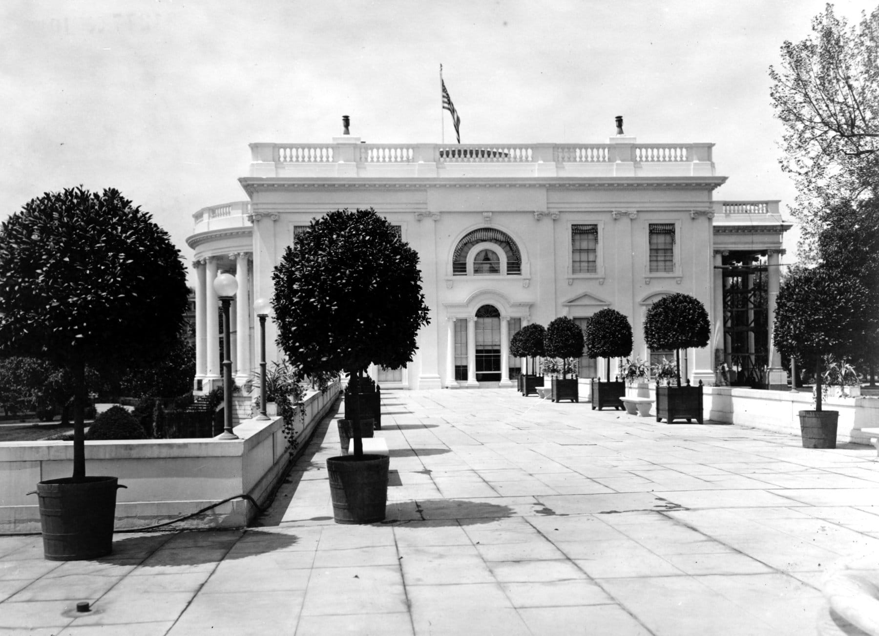On the East Terrace of the White House