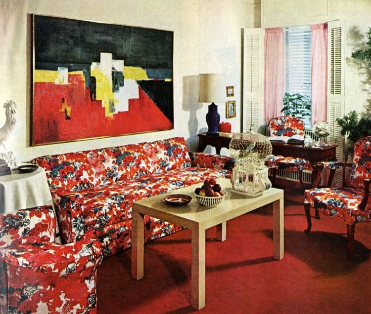 One room three different ways - Home decor from 1965 - A day in May