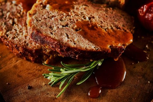 Onion meatloaf retro recipe from the 1960s (1)