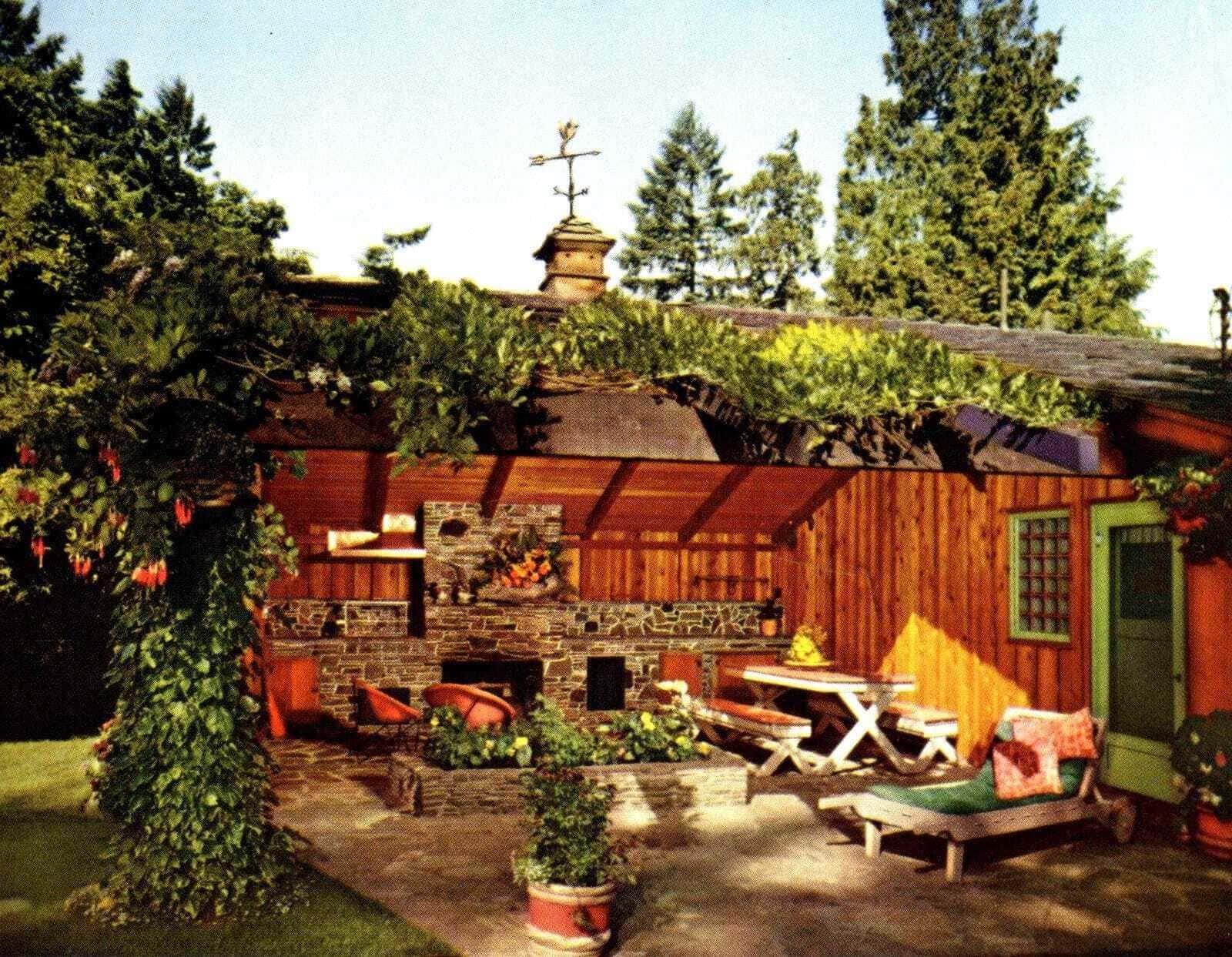 Open room garden outside - Vintage backyard inspiration from 1962