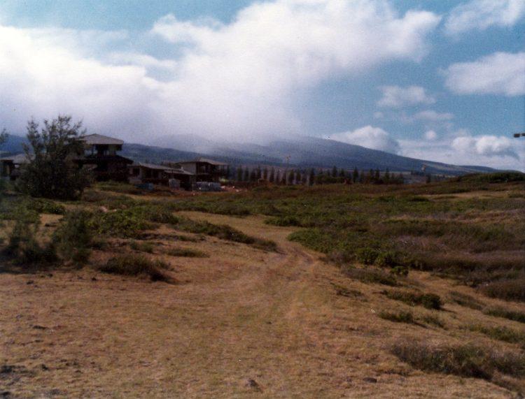 Open space near Kapalua Bay Villas in the seventies
