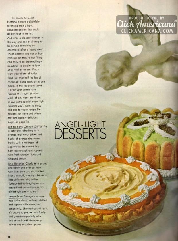 Orange Chiffon Pie, Lime Bavarian Charlotte more recipes 1965 (2)