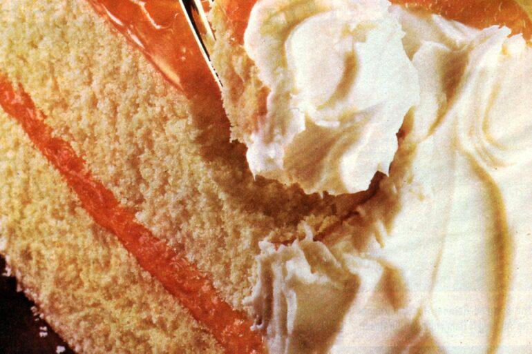 Orange-filled party cake