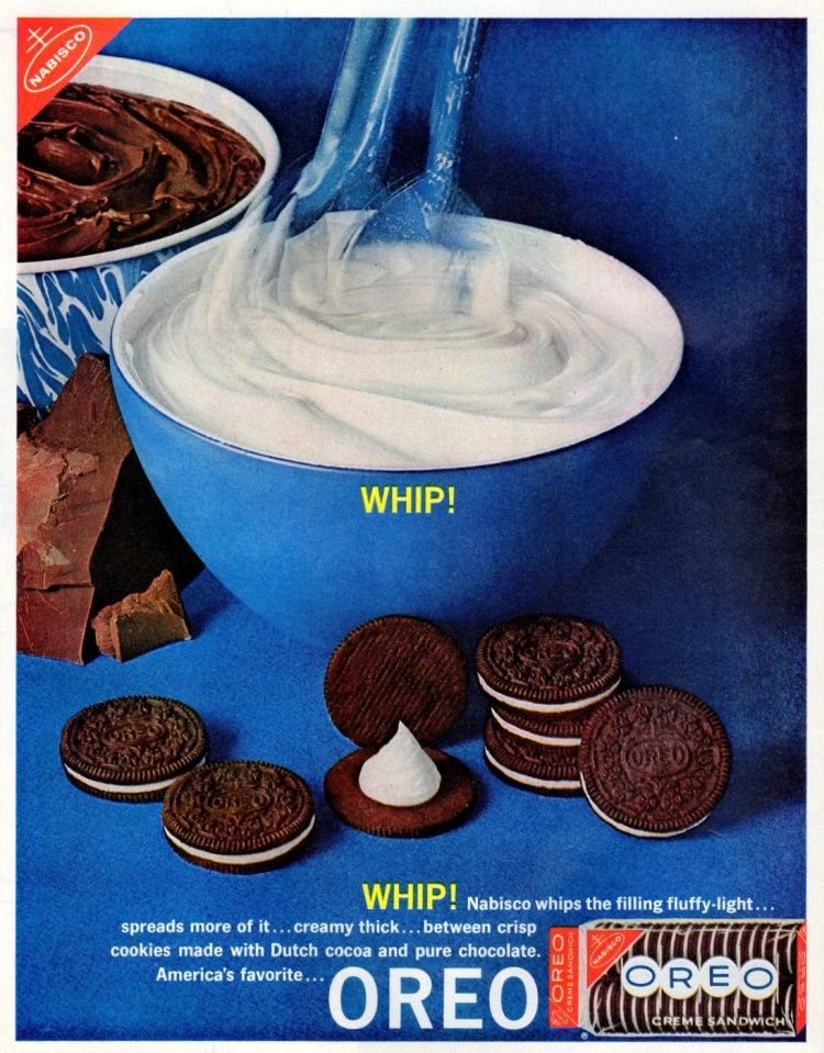 Oreos with whipped filling (1962)