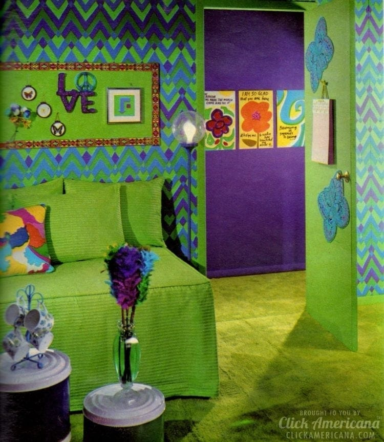 Organizing and decor for teen bedroom from 1971