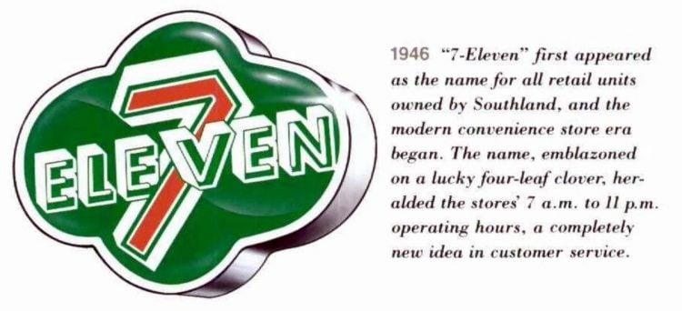 Original 7-Eleven logo from 1946