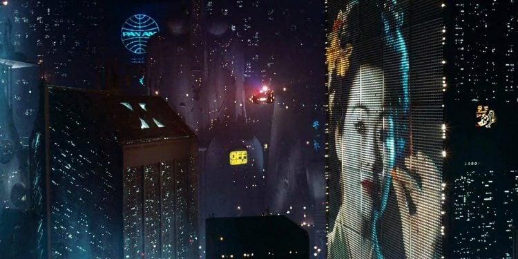 Original Blade Runner movie from 1982 showing 2019