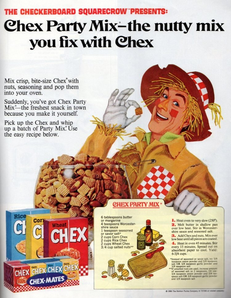 Original Chex party mix recipe from 1966