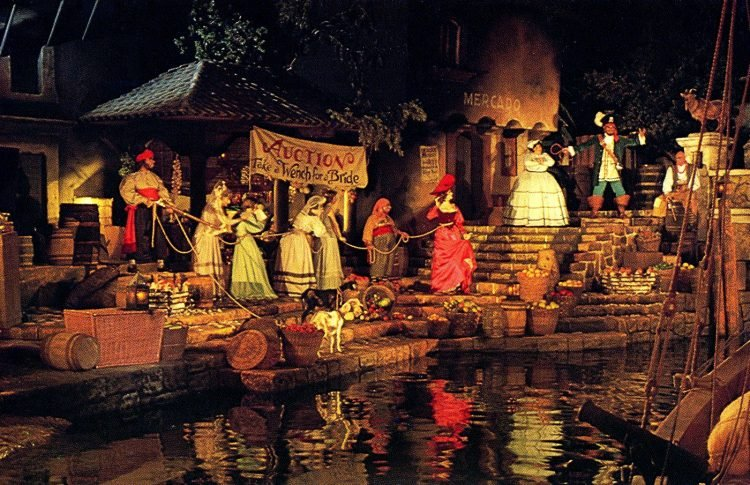 Original Pirates of the Caribbean Disneyland ride - Take a wench auction