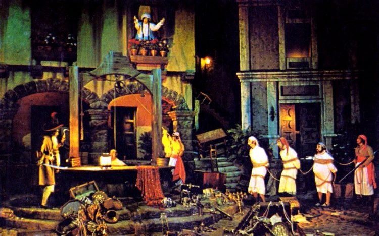 Original Pirates of the Caribbean Disneyland ride - vintage 1970s
