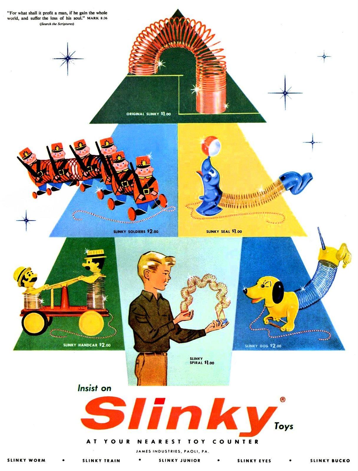 Original Slinky, Slinky Seal, Slinky Dog and more (1957)