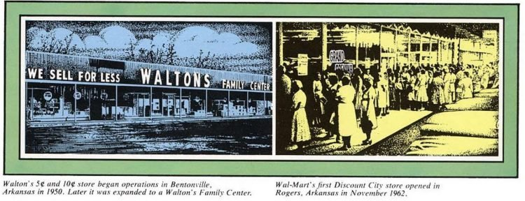 Original Wal-Mart store and 5 and 10 store - 1950s and 1960s