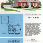 Original vintage exteriors and floor plans for American houses built in 1958 - at Click Americana (1)