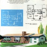 Original vintage exteriors and floor plans for American houses built in 1958 - at Click Americana (23)