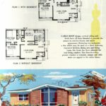 Original vintage exteriors and floor plans for American houses built in 1958 - at Click Americana (29)