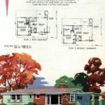 Original vintage exteriors and floor plans for American houses built in 1958 - at Click Americana (3)