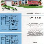 Original vintage exteriors and floor plans for American houses built in 1958 - at Click Americana (33)
