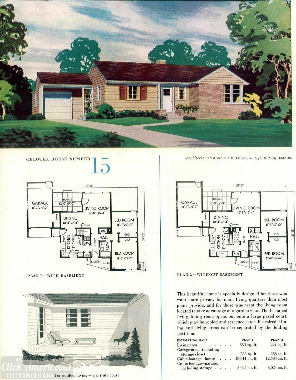 Original vintage house designs for homes built in 1952 - at Click Americana (1)