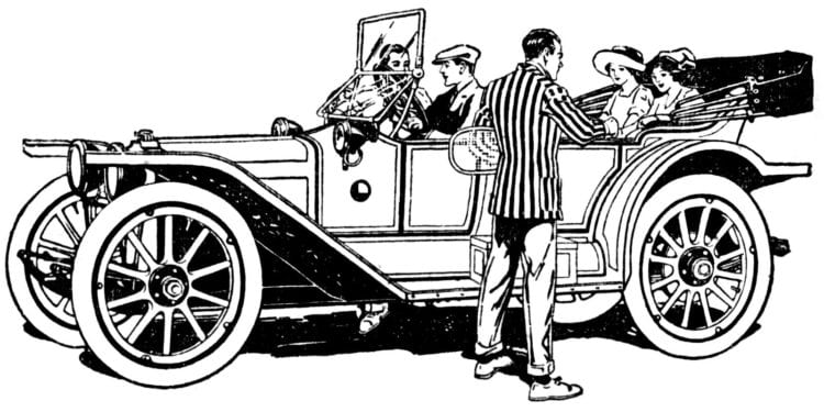 Out for a drive in the car 1913